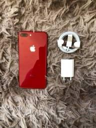 Iphone 8 plus red 64GB funcionando tudo certinho sem defeito aceito cartões
