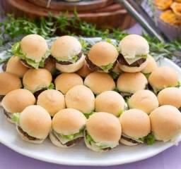 Faço mini hambúrguer artesanal para festas de aniversário,confraternização,coffee break