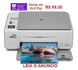 Impressora multifuncional HP Photosmart C4280, com eletrônica e mecânica ok.