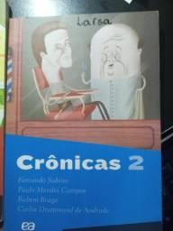 Crônicas vol. 1 e vol. 2. Fernando Sabino e outros. Ótimo estado