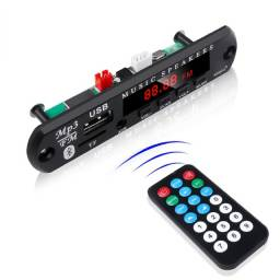 Placa De Decodificador 12v Mp3 Wma Sem Fio Bluetooth 5.0 Usb