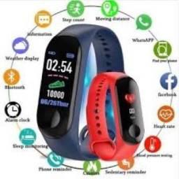 M3 Smartwatch Pulseira inteligente + 1 Pulseira Reserva Pronta Entrega