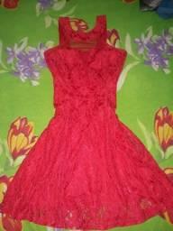 Vestido vermelho de festa ou debutante