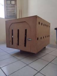 Caixa de transporte madeira - cães grandes e gigantes