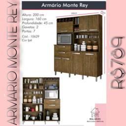 armario marrom de cozinha