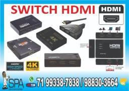 Adaptador Switch Chaveadora HDMI para Projetores