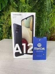 Galaxy A12 Preto 64GB Novo/Lacrado - 1 ano de Garantia Samsung + Nota Fiscal.