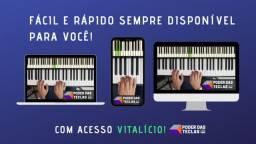 Curso de Teclado e Piano Poder das Teclas R$ 99 avista no boleto ou 11× de 10,40 no cartão
