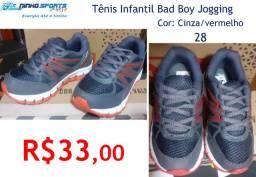 Tênis Infantil Bad Boy Jogging / 28/ cinza-vermelho