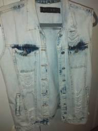 Colete destroyer jeans claro lindo