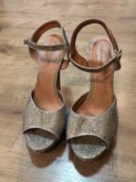 Sandália meia pata com Glitter (12cm)
