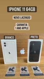 iPhone 11 64gb Preto e Branco - Novo Lacrado Garantia de 1 ano Apple