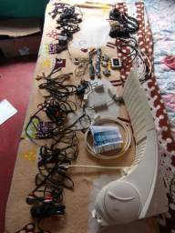 Chuveiro mais cabos av e conectores