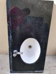 Bancada para banheiro em mármore são Gabriel