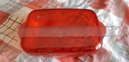 Travessa de policarbonato TUPPERWARE com 2 tampas