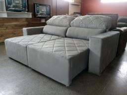 Sofa grandão cinza novo