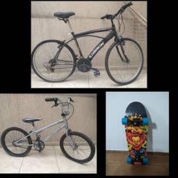 2 Bicicleta e 1 Skate