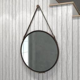 Disco Decorativo Para Sala/ Espelho Redondo com Alça Sintetica