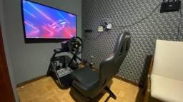 Simulador Kit Thrustmaster + Pedais + Cambio Th8 + Cockipit