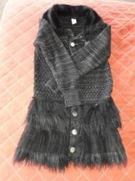 Casaco de lã preto Lilicaripilica tamanho06