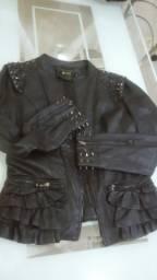 Vendo linda jaqueta de roqueira ou motoqueira tam G