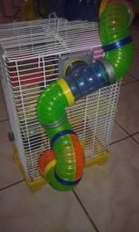 2 hamster + gaiola 3 andares