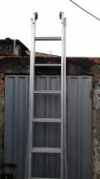Escada Extensiva 3 Em 1 Em Alumínio 2 X 9 - 16 Degraus