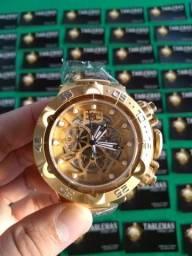 Promoção Invicta Subaqua Noma 5 Skeleton Gold
