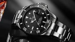 Relógio Automático Tevise (estilo Rolex, prova d'água, aço inox)
