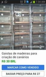 Gaiolas de madeiras