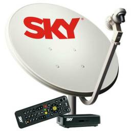 Encontro sinal da sky estalo antena