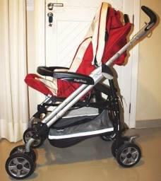 Carrinho Pliko P3 Peg Pérego e Bebê Conforto Primo Viaggio Tri-Fix
