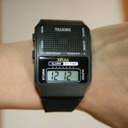 6b43fbab5d8 Relógio Fala Hora Ideal Para Idoso Ou Deficiente Visual