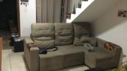 Vendo sofá de 4 lugares retrátil com chease