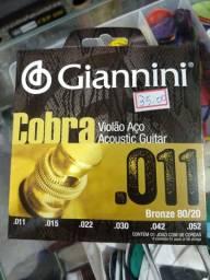 Encordoamento 011 Giannini cobra