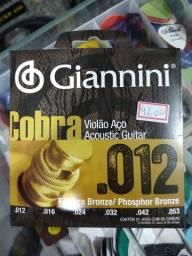 Encordoamento fósforo bronze 012 pra violão
