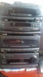 Aparelho de som modulado Technics 4x1 raridade. 1994