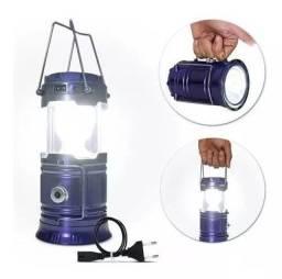 Lanterna E Lampião Solar Com LEDs Luatek Pescaria, acampamentos e emergências