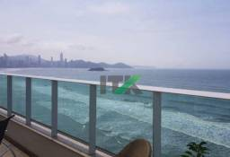 Apartamento Triplex com 4 suítes frente mar para temporada, 400 m² por R$ 2.000/dia - Baln