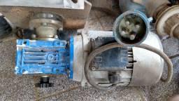 Motor Elétrico 1Cv trifásico com caixa de redução e misturador