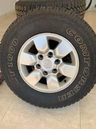 Para vender logo, Vendo jogo pneu e rodas da hilux aro 15