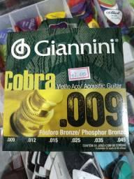 Encordoamento Giannini fósforo bronze 0.9