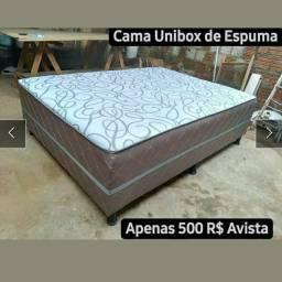 Cama Unibox Casal de Espuma (Entrega Grátis)
