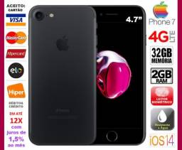 "IPhone 7 Preto 32GB Quad Core, 2GB Ram, Tela 4.7"", Câm 12MP, Novíss, Caixa, NF, Gar Troco!"