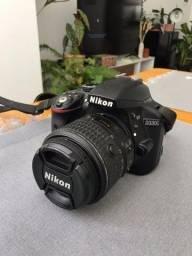 Câmera Nikon d3300 - Lente 18-55mm