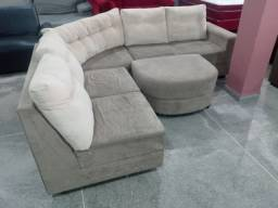 Sofa de canto com puff
