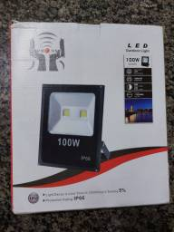Refletor Led Holofote Smd Slim 100w Bivolt Ip65 Rgb Colorido