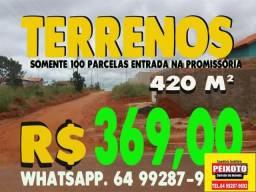 LOTE DE -420 METROS PARCELADO CALDAS NOVAS