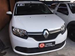 Renault Logan Expression 1.0 Flex Branca 2014 Lindo Completo!!!