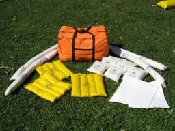 KIT Absorvente Sorbex de contenção ambiental em bolsa, hidrocarbonetos e químicos
